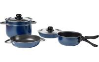 Berger Pot Set Aluminium empilable bleu 8 pcs.