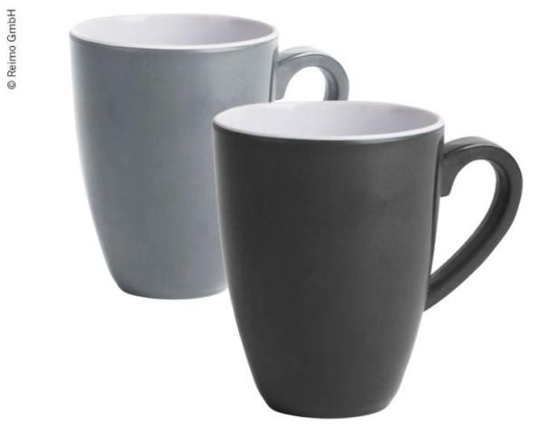 Melamin Tassen-Set CANNES, 2er-Set, grau u. anthra zit