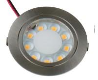 9 LED 65x13mm zinc, chromé, 1,7Watt, rond