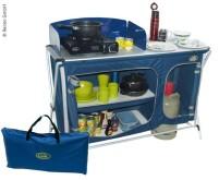 Campingküche Cuccina Quick mit Spülbecken, blau, m it Tragetasche