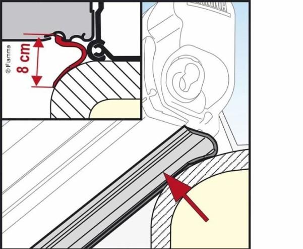 Fiamma Kit Rain Guard Lower für F45S 550cm