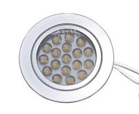 Spot encastré 1.2W 18SME LED chromé
