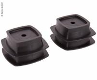 Stützfüsse-Set, 4 Stück, schwarz, verwendbar mit Ar tikel 91195