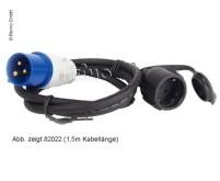 CEE-Adapterkabel: Schuko-Kupplung/CEE-Stecker 3x2, 5mm 40cm lang