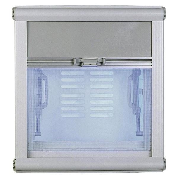 Dometic Seitz Supermini store à enrouleur pour trappe de toit Alu-gris | 58 x 60 cm