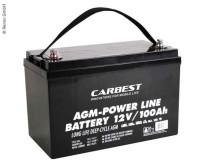 Carbest AGM Batterie100Ah 330x171x220mm