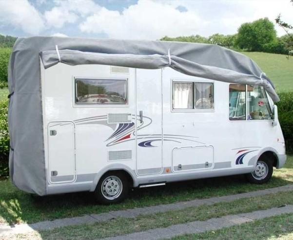 Reisemobil-Schutzhaube L610 x B235 x H270 cm,grau