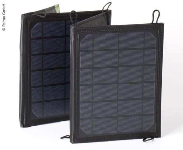 Faltbares Solarpanel 15W, 2x USB-Ausgang, 5V2,5A, tragbar
