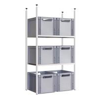 Système d'étagères pour caravanes Adventure Q60 comprenant 6 boîtes empilables étagère arrière 1 Q60