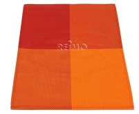 Set de 2 sets de table, 30x45cm, Orange/Rouge