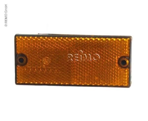 Réflecteur 90x40mm auto-adhésif jaune, en vrac