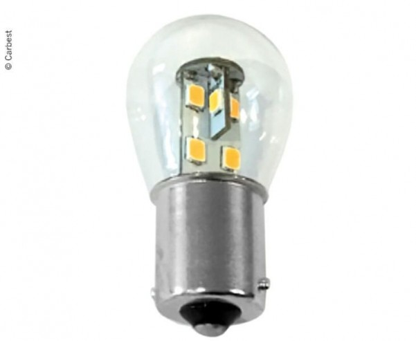 LED BA15S, 0,7W, 60 Lumen, 16 SMD blanc chaud