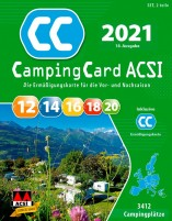 ACSI CampingCard 2021 Guide de camping avec carte de réduction