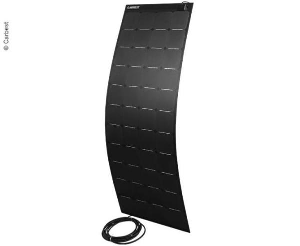 Solarpanel flexibel 160W,1505x540x3mm,8m Kabel,ETF E+Fiberglas,schwarz