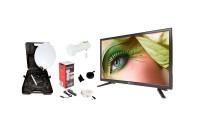 """Opticum Travel TV Camping Set EasyFind Sat-Antenne mit 20"""" Fernseher"""