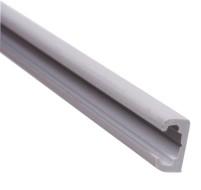 Kunststoff Gardinenleiste 2,2m grau