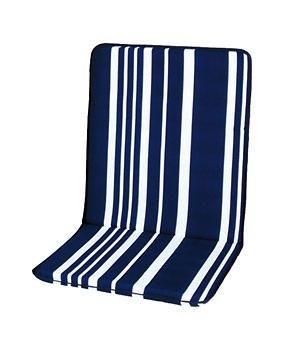 Nizza Stuhlauflage niedrig, blau-weiss