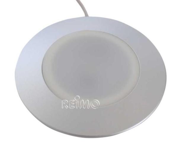 LED-Einbaulampe Diskus 3W, Alu silber lose