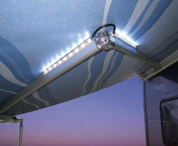 LED Lichtleiste f. Markise 4 Leisten à 9LED
