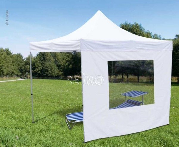 Paroi latérale pour tente pavillon 90542+90545, 3x3m, blanche, avec fenêtre