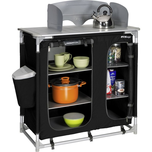 Berger Küchenbox Premium II schwarz schwarz, grau