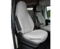 Housse de siège en microfibre, grise, y compris l'appui-tête