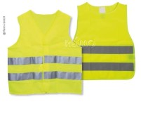 Set gilet haute visibilité jaune, 2x adultes (1x XL/1x XXL) + 2x enfants