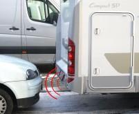 Module radio pour caravane ou avant avec 4 capteurs noir.