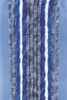 Flauschvorhang 56x185 grau/blau/weiss