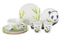 Gimex Nature Line Vaisselle en mélamine de bambou Set 16 pcs.