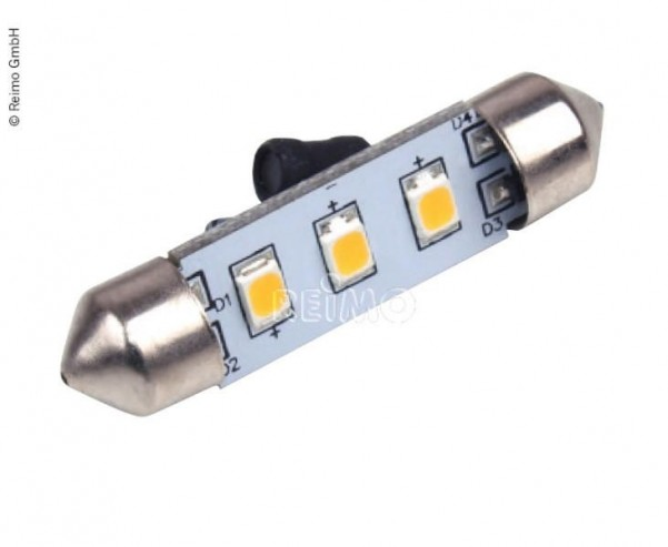 LED Soffitte, 0,6W, 48 Lumen, 3 warmweisse SMD