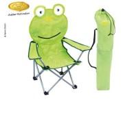 Faltstuhl Kinder POLLINO, Motiv: Frosch, grün, bis  50kg