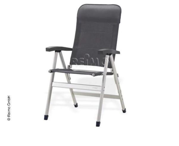 Chaise de camping Challenger, gris anthracite, tabouret à quatre pieds