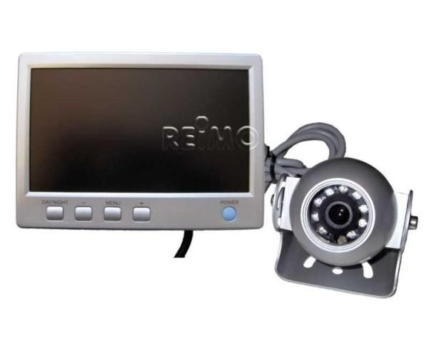 """Rückfahrvideosystem LCD 7"""" Farbe, m.Kugelkamera, K abel 20m"""