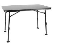 Campingtisch CALAIS 115x70x55-74cm,Gestell:schwarz ,Tischplatte:anthraz
