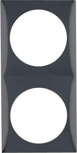 Cadre de couverture Berker 2gang noir brillant
