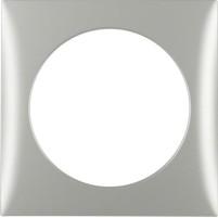 Cadre de recouvrement de berker 1gang chromé mat, galvanisé