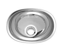 Waschbecken oval Edelstahl 432x305x130