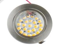 24 LED 65x13mm Zink,12V, 3 Watt, rund