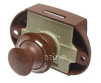 Push-Lock beidseitig bedienbar (braun)