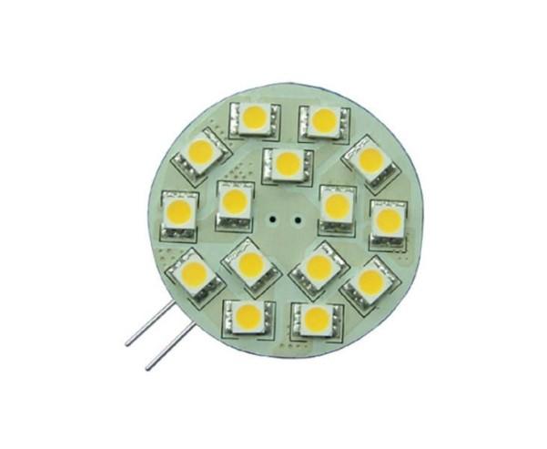 LED G4 Leuchtmittel, 2W, 10-30V, 15 warmweisse SMD, dimmbar, 157Lumen