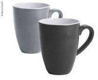 Ensemble de tasses en mélamine CANNES, ensemble de 2, gris & anthra zit