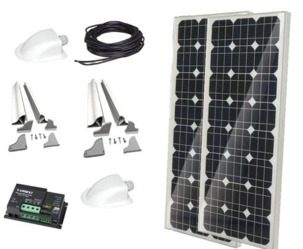 Solaranlage Carbest 2x100 Watt CB-200 Set
