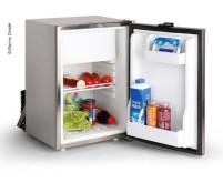 Réfrigérateur à compresseur 34l+ compartiment congélateur 6l, 12/24V , 45 Watt, acier inoxydable