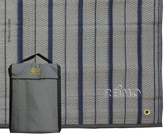 Tapis d'auvent 2,5x2,9m bleu-gris, sac de transport inclus
