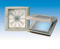 Dachhaube Omni-Vent mit Ventilator 40x40 transpare nt