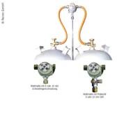 Système Multimatik à 2 bouteilles Sortie 30 mbar 8mm avec valve de test
