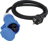 CEE-Adapterleitung Schutzkontakt-Stecker auf CEE-Kupplung 3-polig