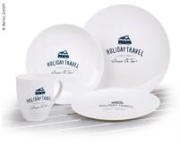 Set de vaisselle PLA HOLIDAY TRAVEL, 8 pièces, pour 2 personnes, micro-ondable