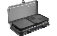 2-Cook Pro Deluxe 2-Flamm-Kocher/Grill 30mbar, Piezo, 2 Grillplatten